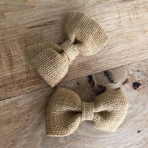 Other - Burlap bow tie and hair bow set